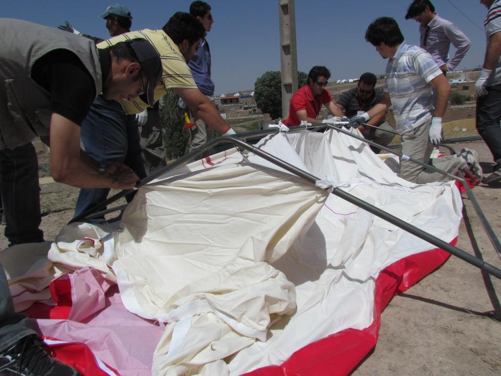 گزارش عملکرد جمعیت کاهش خطرات زلزله ایران و گروه نجات موج پیشرو